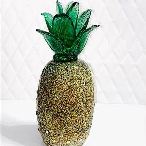 Murano Style Glass Pineapple